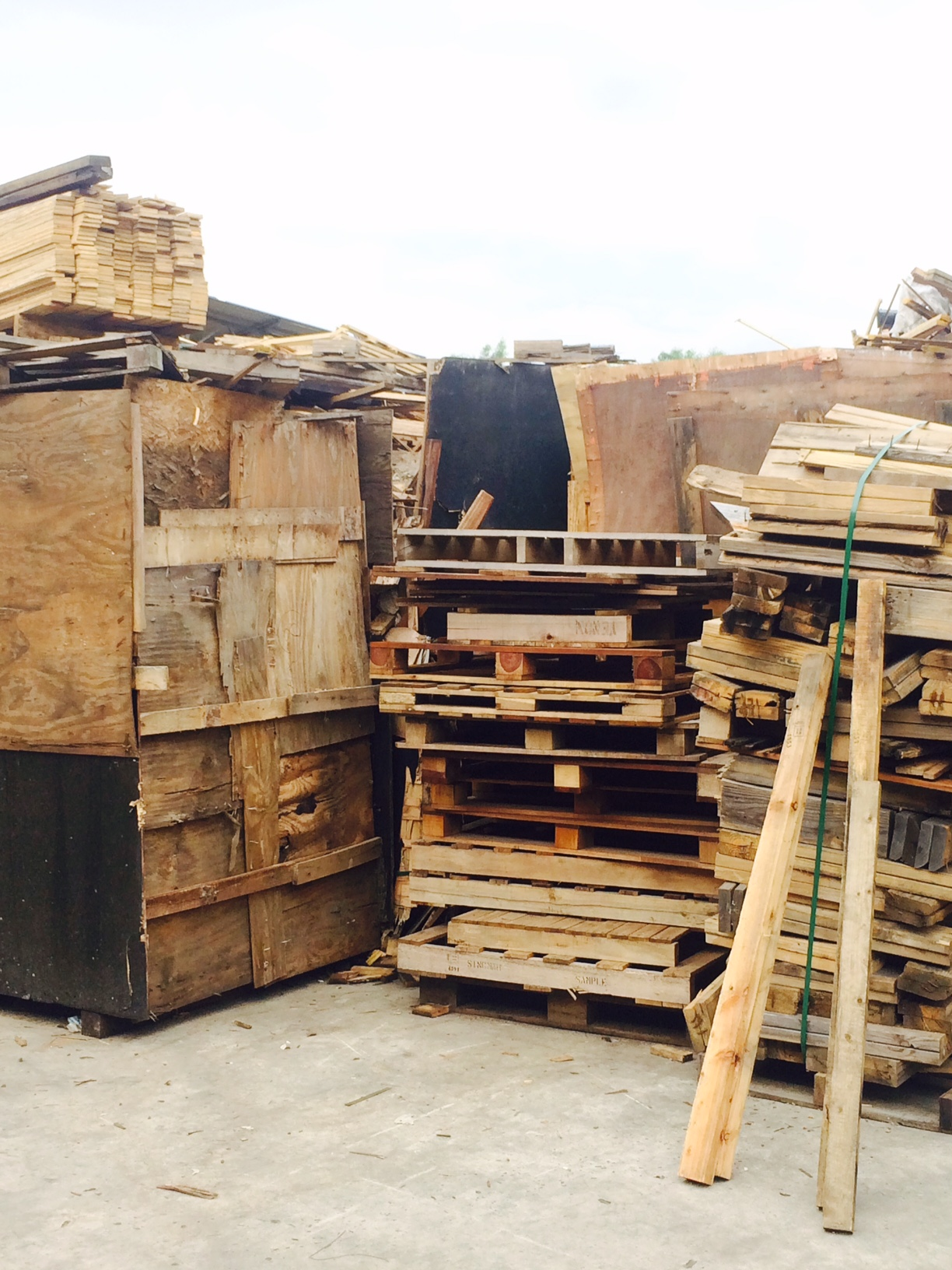 Collection Of Waste Wood Pallets And Crates Sing Mah Wooden Cases